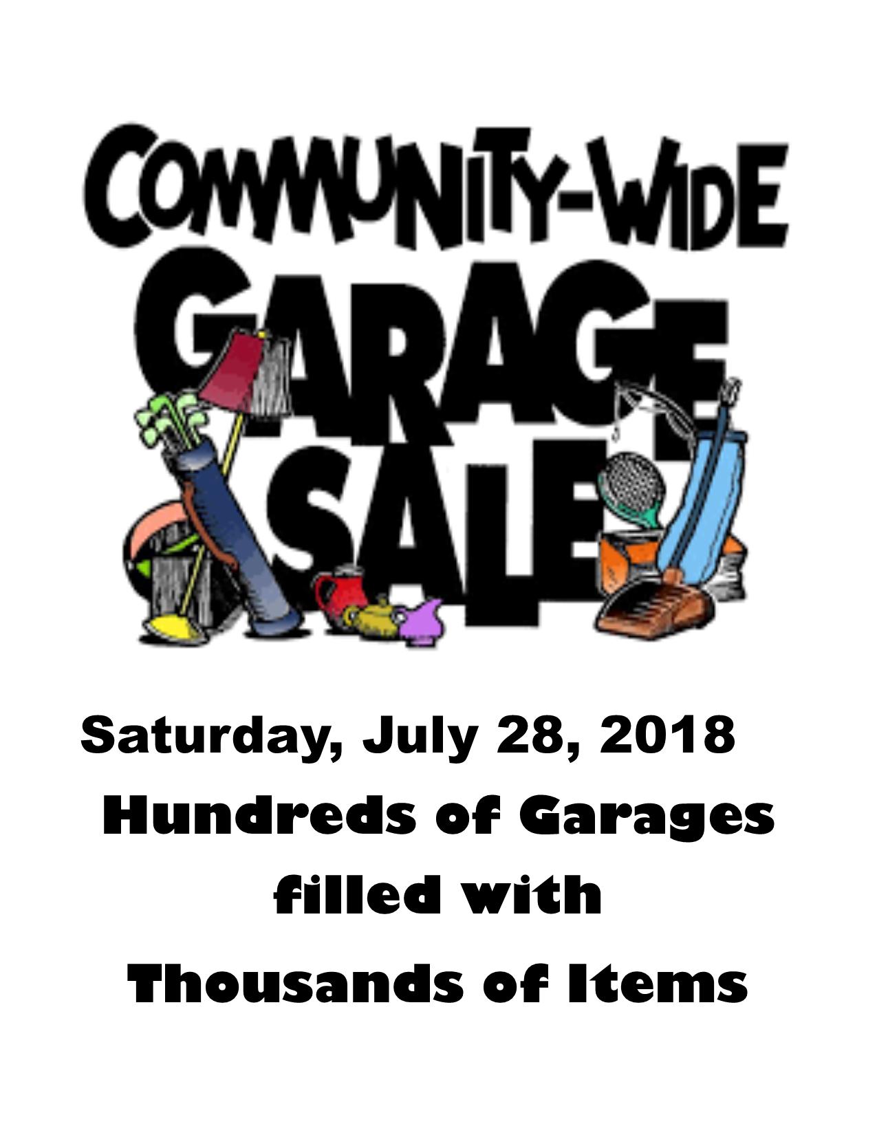 Community Garage Sale Lake Limerick Country Club